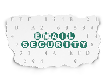 email security: Protection concept: Painted green text Email Security on Torn Paper background with  Hexadecimal Code Stock Photo