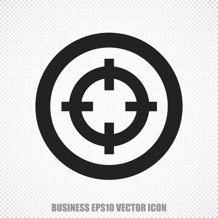 Het universele pictogram op het business thema: Black Target. Modern flat design.