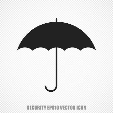 brolly: The universal icon on the safety theme: Black Umbrella. Modern flat design.
