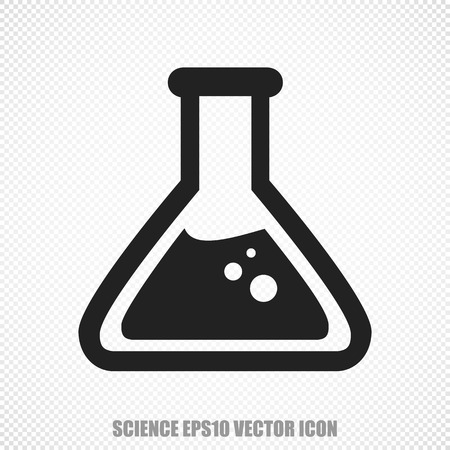 erlenmeyer: The universal icon on the Science theme: Black Flask. Modern flat design.