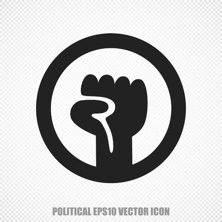 uprising: The universal icon on the political theme: Black Uprising. Modern flat design. Stock Photo