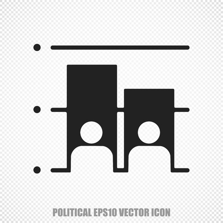 dictatorship: The universal icon on the political theme: Black Election. Modern flat design. Illustration