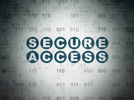 privat: Security concept: Painted blue text Secure Access on Digital Data Paper background with Binary Code