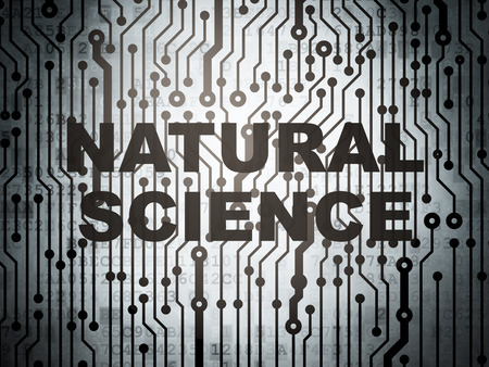 natural science: Science concept: circuit board with  word Natural Science, 3D rendering Stock Photo
