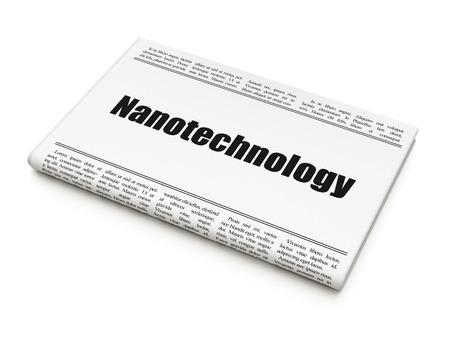 newspaper headline: Science concept: newspaper headline Nanotechnology on White background, 3D rendering Stock Photo