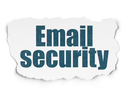 email security: Security concept: Painted blue text Email Security on Torn Paper background with  Tag Cloud