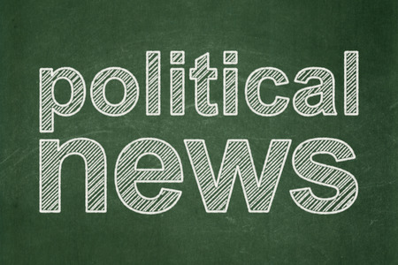 urgent announcement: News concept: text Political News on Green chalkboard background Stock Photo