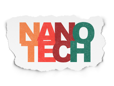 nanotech: Science concept: Painted multicolor text Nanotech on Torn Paper background