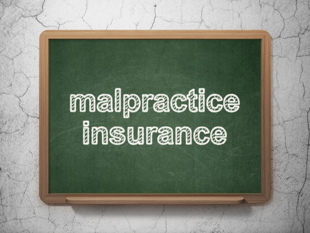 malpractice: Insurance concept: text Malpractice Insurance on Green chalkboard on grunge wall background, 3D rendering