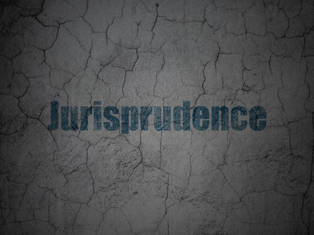jurisprudence: Law concept: Blue Jurisprudence on grunge textured concrete wall background