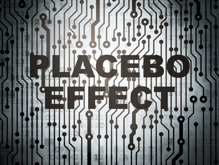 placebo: Healthcare concept: circuit board with  word Placebo Effect, 3D rendering Stock Photo