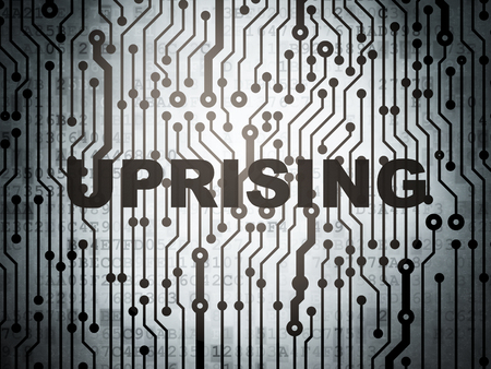 uprising: Politics concept: circuit board with  word Uprising, 3D rendering Stock Photo