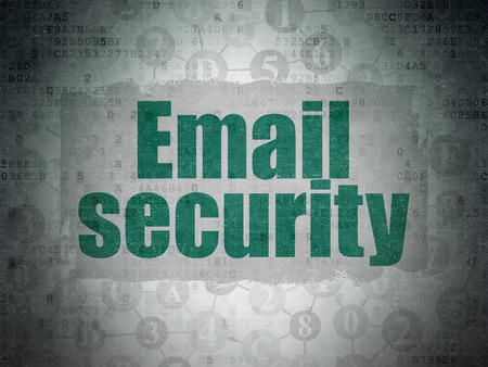 email security: Protection concept: Painted green text Email Security on Digital Data Paper background with  Scheme Of Hexadecimal Code