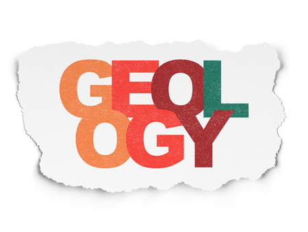 geology: Science concept: Painted multicolor text Geology on Torn Paper background Stock Photo