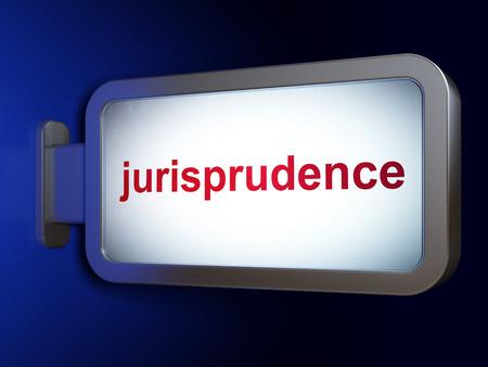 jurisprudencia: Concepto de la ley: Jurisprudencia sobre la publicidad fondo cartelera, 3D Foto de archivo