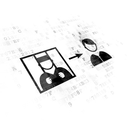 freed: Law concept: Pixelated black Criminal Freed icon on Digital background