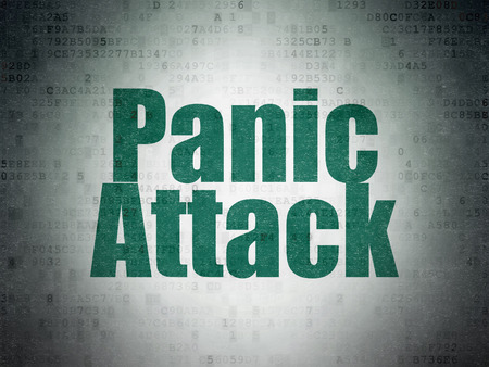 panic attack: Medicine concept: Painted green word Panic Attack on Digital Data Paper background Stock Photo