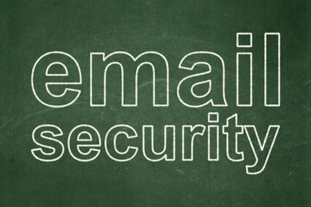 email security: Protection concept: text Email Security on Green chalkboard background