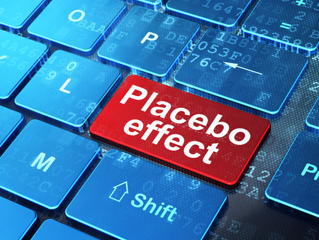 placebo: Medicine concept: computer keyboard with word Placebo Effect on enter button background, 3D rendering Stock Photo