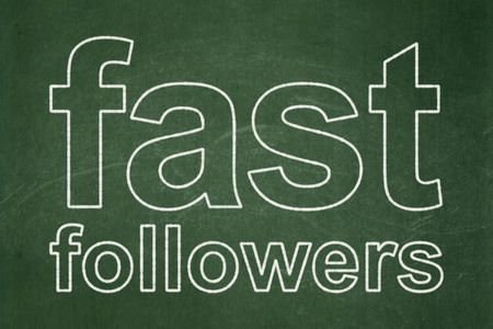 followers: Business concept: text Fast Followers on Green chalkboard background