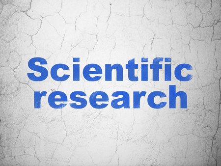 science scientific: Science concept: Blue Scientific Research on textured concrete wall background