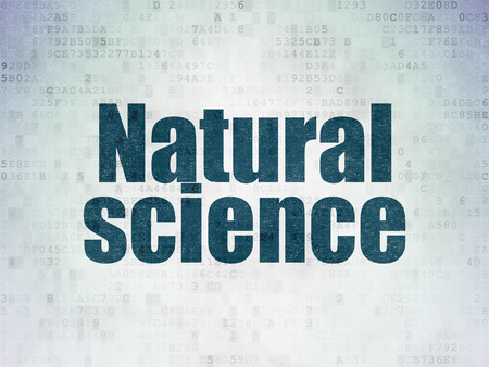 natural science: Science concept: Painted blue word Natural Science on Digital Data Paper background