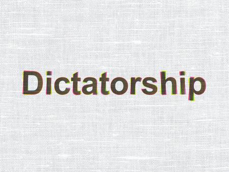 dictatorship: Politics concept: CMYK Dictatorship on linen fabric texture background Stock Photo