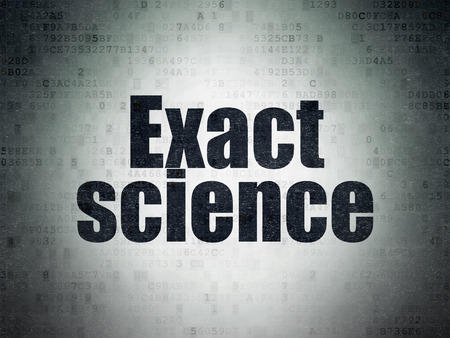 exact science: Science concept: Painted black word Exact Science on Digital Data Paper background Stock Photo