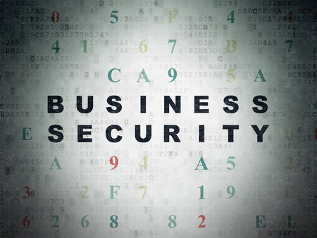 hexadecimal: Safety concept: Painted black text Business Security on Digital Data Paper background with Hexadecimal Code Stock Photo
