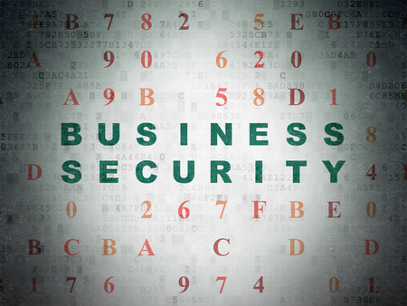 hexadecimal: Security concept: Painted green text Business Security on Digital Data Paper background with Hexadecimal Code