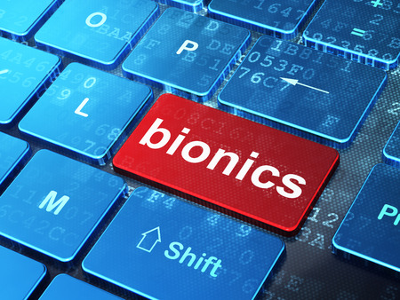 bionics: Science concept: computer keyboard with word Bionics on enter button background, 3D rendering Stock Photo