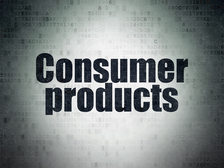 consumer products: Business concept: Painted black word Consumer Products on Digital Data Paper background