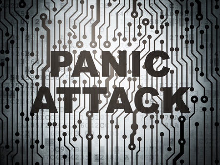 panic attack: Healthcare concept: circuit board with  word Panic Attack, 3D rendering Stock Photo