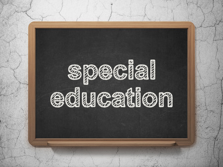 special education: Education concept: text Special Education on Black chalkboard on grunge wall background, 3D rendering
