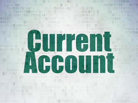 current account: Money concept: Painted green word Current Account on Digital Data Paper background Stock Photo