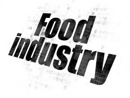food industry: Industry concept: Pixelated black text Food Industry on Digital background