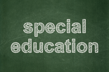 special education: Education concept: text Special Education on Green chalkboard background Stock Photo