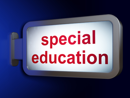 special education: Learning concept: Special Education on advertising billboard background, 3D rendering Stock Photo