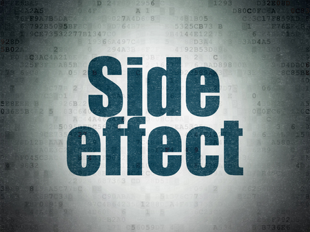 side effect: Health concept: Painted blue word Side Effect on Digital Data Paper background