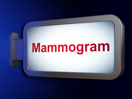 mammogram: Healthcare concept: Mammogram on advertising billboard background, 3D rendering Stock Photo