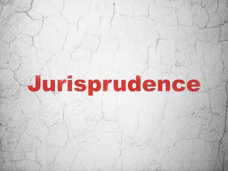 jurisprudencia: Concepto de la ley: Jurisprudencia rojo en el fondo muro de hormig�n con textura