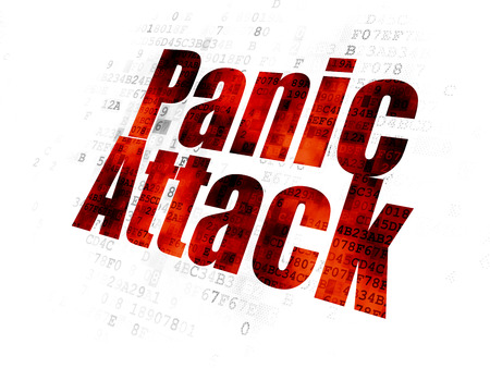 panic attack: Healthcare concept: Pixelated red text Panic Attack on Digital background