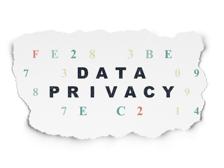 hexadecimal: Safety concept: Painted black text Data Privacy on Torn Paper background with  Hexadecimal Code Stock Photo