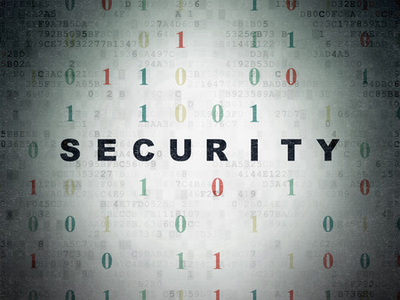 passkey: Security concept: Painted black text Security on Digital Data Paper background with Binary Code Stock Photo