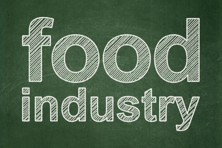 food industry: Industry concept: text Food Industry on Green chalkboard background