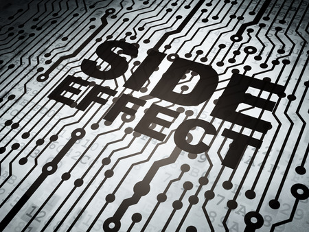 side effect: Health concept: circuit board with  word Side Effect, 3D rendering Stock Photo