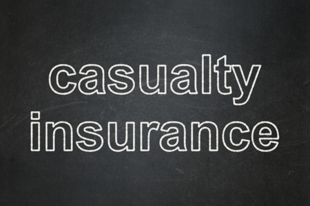 casualty: Insurance concept: text Casualty Insurance on Black chalkboard background