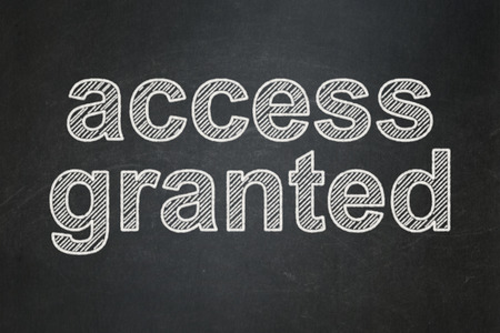 access granted: Protection concept: text Access Granted on Black chalkboard background Stock Photo