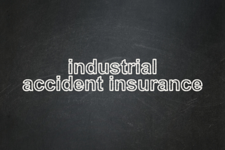 industrial accident: Insurance concept: text Industrial Accident Insurance on Black chalkboard background