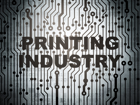 printing industry: Industry concept: circuit board with  word Printing Industry, 3D rendering